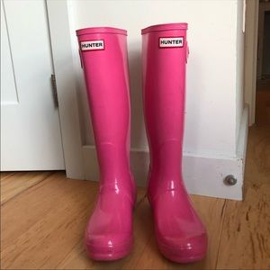 Hunter Boots Hot Pink Size 7